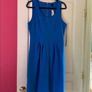 J Crew Blue Sheath Dress NWT